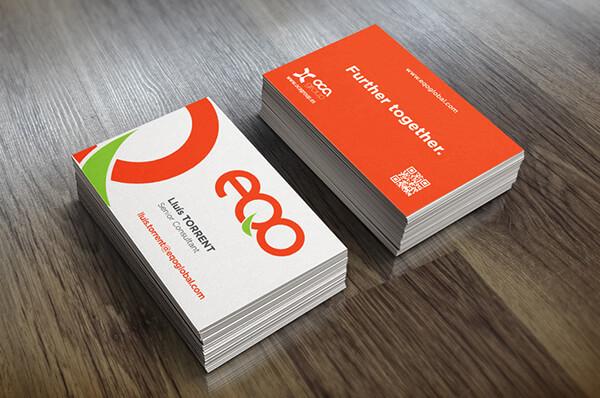 Diseño de tarjetas corporativas - EQO